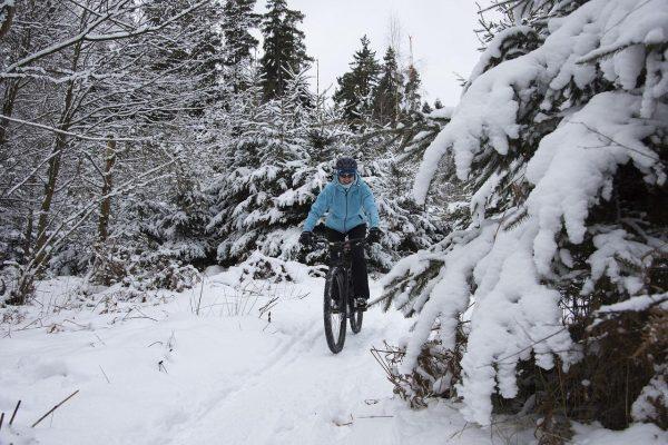 sähköpyöräily talvella